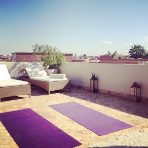 Waiting for my students on the rooftop yoga yogawithstef yogamarrakechhellip