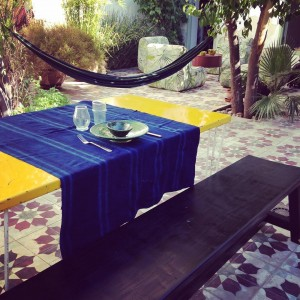 table table home homedecor deco bench indigo blue yellowhellip