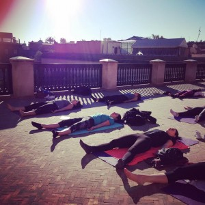Savasana with sun and blue sky savasana yoga yogapractice yogawithstefhellip