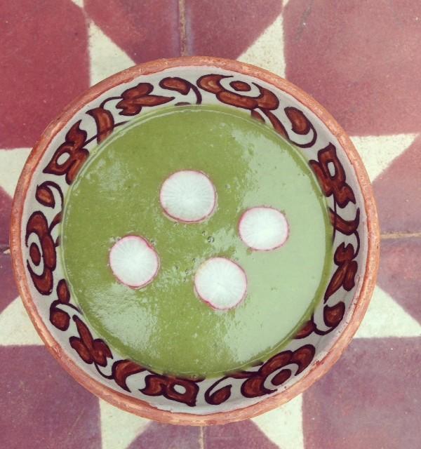 radish fanes soup